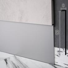 Алюминиевый плинтус скрытого монтажа для неглубоких приямков Sintezal-P-118, 80х8х2500мм.
