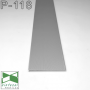 Скрытый плинтус алюминиевый под вставку, 80х8х2500мм. Sintezal-P-118.