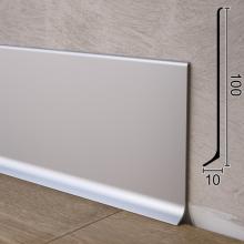 Плоский плинтус алюминиевый накладной Sintezal P-100, 100х10х2500мм.