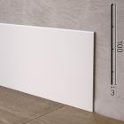 Высокий алюминиевый плинтус с минимальной толщиной Sintezal P-102W, 100x3x2500mm. Белый