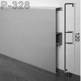 Алюминиевый плинтус для пола ARFEN P-328, 120х18х3000мм., анодированный