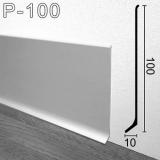 Плинтус алюминиевый накладной Sintezal P-100 100х10х2500мм., анодированный