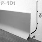 Промышленный алюминиевый плинтус Sintezal Р-101, 100х25х3000мм.