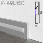 Алюминиевый плинтус с LED-подсветкой Sintezal Р-89LED, 60х10x2500мм.