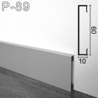 Прямоугольный алюминиевый плинтус Sintezal P-89 60х10х2500мм., анодированный