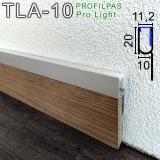 LED-профиль для создания подсветки на плинтусе Profilpas ProLight TLA/10, 20х10х2700мм.