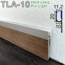LED-профиль для подсветки плинтуса Profilpas ProLight TLA/10, 20х10х2700мм.