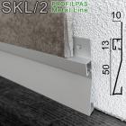 Встроенный плинтус с LED-подсветкой Profilpas Metal Line XL Design SKL/2. 63х10х2800 мм.