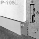 Алюминиевый плинтус с LED-подсветкой Sintezal, высота 60мм. P-105L