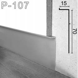 Алюминиевый плинтус скрытого монтажа под гипсокартон Sintezal Р-107, H=70мм.