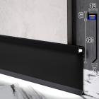 Скрытый плинтус алюминиевый с LED-подсветкой Sintezal P-116В, 60х12х2500мм. Чёрный