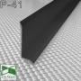 Плоский алюминиевый плинтус для пола Sintezal P-41B, высота 4 см. Чёрный