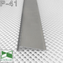 Плоский плинтус алюминиевый L-образный Sintezal P-41, высота 40 мм.