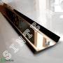 Плоский плинтус из нержавеющей стали Profilpas Metal Line 790/5, высота 50 мм.