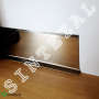 Плоский плинтус из нержавеющей стали Profilpas Metal Line 790/8, высота 80 мм.