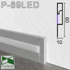 Алюминиевый плинтус с LED-подсветкой Sintezal, 60х10x2500мм. Р-89LED