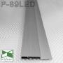 Алюминиевый плинтус с LED-подсветкой Sintezal Р-89LED, высота 60 мм.