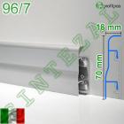 Алюминиевый плинтус для пола Profilpas Metal Line 96/7