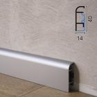 Алюминиевый плинтус для пола Profilpas Metal Line 97/4, 40х14х2000мм. Италия