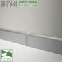 Плинтус алюминиевый напольный Profilpas Metal Line 97/4, высота 40 мм.