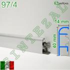 Алюминиевый плинтус для пола Profilpas Metal Line 97/4