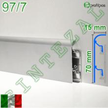 Алюминиевый плинтус для пола Profilpas Metal Line 97/7