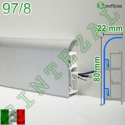 Алюминиевый плинтус для пола Profilpas Metal Line 97/8