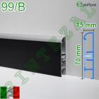 Алюминиевый плинтус со вставкой из кожи Profilpas Metal Line 99/B