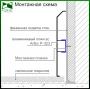 Высокий алюминиевый плинтус для пола ARFEN Р-323 H=120мм., Серебро