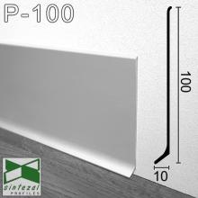 Плинтус алюминиевый накладной Sintezal 100х10х2500мм., анодированный. P-100