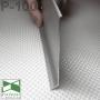 Широкий алюминиевый плинтус для пола Sintezal Р-100, высота 10 см.