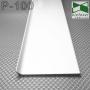 Белый алюминиевый плинтус Sintezal P-100W, высота 10см.