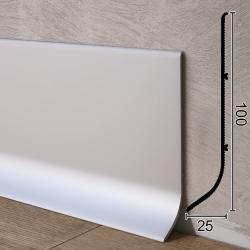 Промышленный алюминиевый плинтус для пола Sintezal Р-101, 25х100 мм.