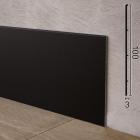 Чёрный алюминиевый плинтус плоский Sintezal P-102B, 100x3x2500mm.