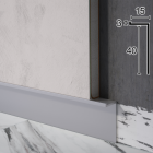 "Скрытый алюминиевый плинтус ""парящие стены"" Sintezal Р-104, 40х15х2500 мм."