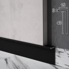 Скрытый плинтус алюминиевый Г-образный Sintezal Р-104B, 40x15x2500mm. Чёрный