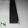 Черный алюминиевый плинтус скрытого монтажа Sintezal Р-104B, приямок 40х15 мм.