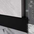 Чёрный алюминиевый плинтус скрытого монтажа Sintezal Р-105В, 60x15x2500mm.