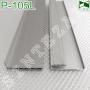 Алюминиевый плинтус для пола с LED-подсветкой Sintezal P-105L