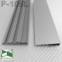 Скрытый алюминиевый плинтус для пола с LED-подсветкой Sintezal P-105L, H=60mm.
