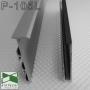 Черный алюминиевый плинтус с LED-подсветкой Sintezal P-105LB, высота 60мм.