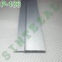 Встроенный алюминиевый плинтус скрытого монтажа Sintezal Р-106
