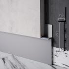 Скрытый плинтус алюминиевый под гипсокартон Sintezal Р-106, приямок 53х11 мм.
