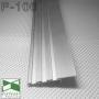Встроенный алюминиевый плинтус скрытого монтажа Sintezal Р-106, приямок 53х11 мм.