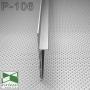 Черный алюминиевый плинтус под гипсокартон Sintezal P-106В, 53х15х3000мм
