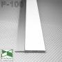 Белый алюминиевый плинтус скрытого монтажа под гипсокартон Sintezal P-106W, высота 53 мм.