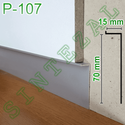 """Скрытый плинтус """"парящие стены"""" Sintezal Р-107, высота 70 мм."""