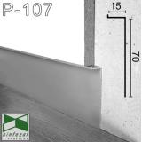 Скрытый алюминиевый плинтус под гипсокартон Sintezal Р-107, приямок 70х15 мм.
