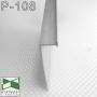 Алюминиевый плинтус скрытого монтажа с видимым кантом 5 мм. Sintezal Р-108, высота 70 мм.