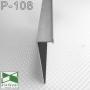 Чёрный алюминиевый плинтус со скрытой подсветкой Sintezal P-108В, высота 70 мм.